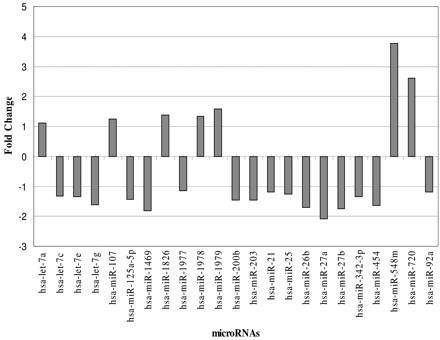 microRNA chart