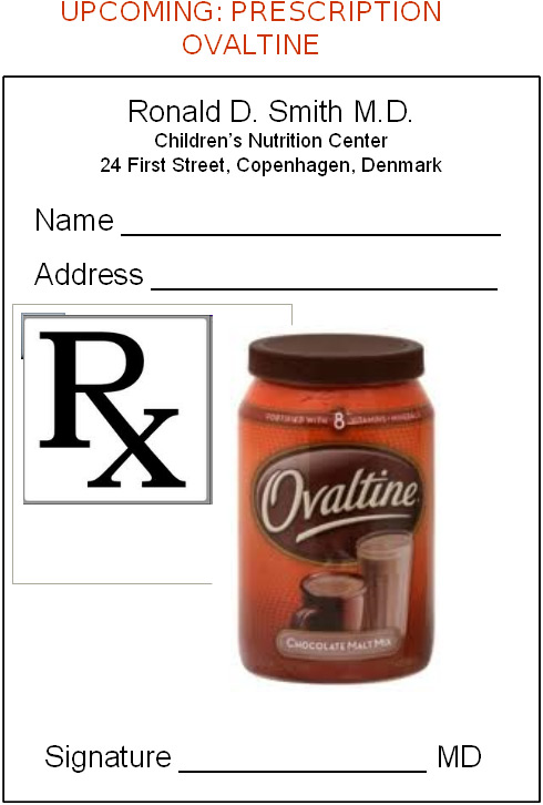 Prescription: Ovaltine